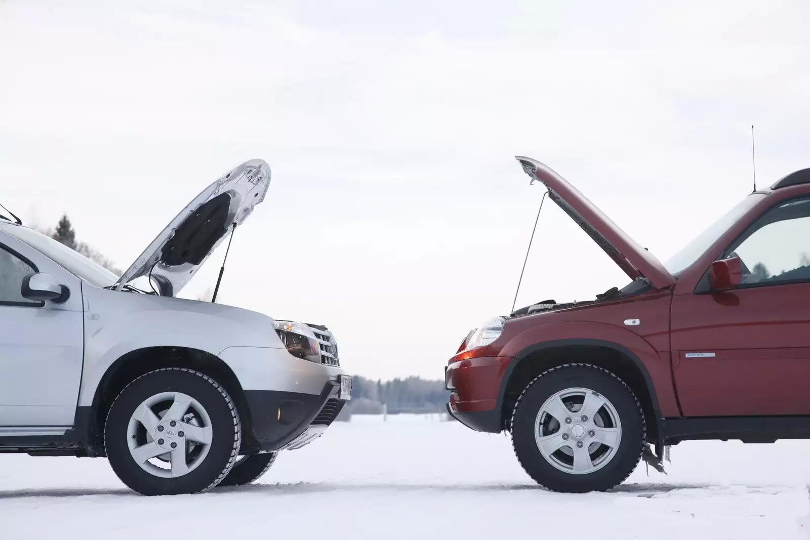 системы авто зимой