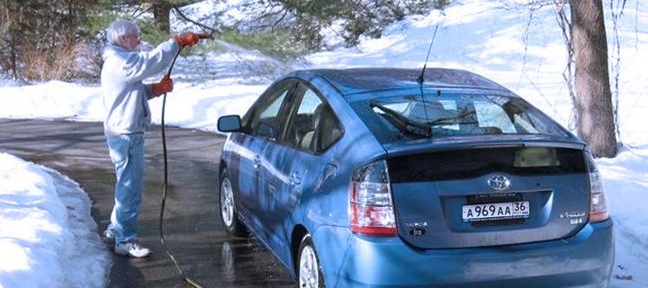 автомобильная мойка зимой
